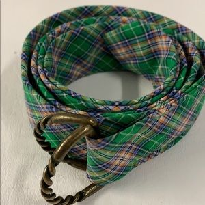 Plaid J. Crew Cloth Belt